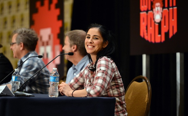 "Sarah Silverman at the ""Wreck-It Ralph"" press conference (courtesy of Disney)"