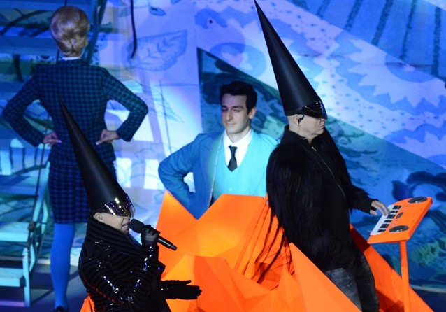 The Pet Shop Boys scaring the crap out of audiences (courtesy of NBColympics.com)