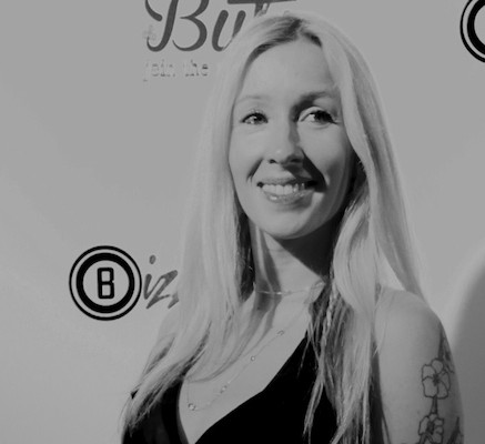 Bizzie Gold on the red carpet for the Butik launch party (photo credit: Rosemary Vega)
