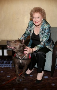 BEVERLY HILLS, CA - OCTOBER 5: Elle (L) and actress Betty White (R) pose during the American Humane Association Hero Dog Awards 2013 held at the Beverly Hilton Hotel on Saturday, Oct. 5, 2013, in Beverly Hills, California. (Photo by Ryan Miller/Getty Images)  *** Local Caption ***  Elle;Betty White