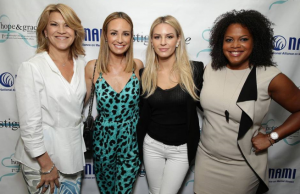 Katrina Gay, Catt Sadler, Morgan Stewart and Tiffani Carter at the NAMI #stigmafree lunch