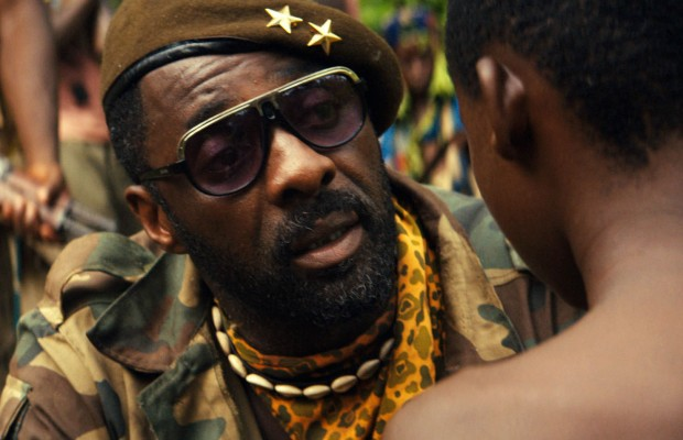 "This photo provided by Netflix shows, Idris Elba in the Netflix original film, ""Beasts of No Nation."" Proving perhaps that Hollywood can't refrain from making disappointing sequels, last year's Twitter hashtag #OscarsSoWhite was quickly revived on Thursday as the Academy unveiled a slate of nominees including no black actors or directors.  (Netflix via AP)"
