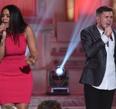"AMERICAN IDOL: Jordin Sparks and contestant Trent Harmon in the """"Showcase #4: Judges Vote"" episode of AMERICAN IDOL airing Thursday, Feb. 18 (8:00-10:00 PM ET/PT) on FOX. © 2016 FOX Broadcasting Co. Cr: Ray Mickshaw / FOX."
