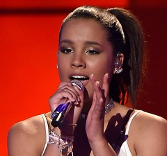 AMERICAN IDOL: Top 10: Contestant Tristan McIntosh performs on AMERICAN IDOL airing Thursday, Feb. 25 (8:00-10:00 PM ET/PT) on FOX. © 2016 FOX Broadcasting Co. Cr: Ray Mickshaw/ FOX. This image is embargoed until Thursday, Feb. 25,10:00PM PT / 1:00AM ET