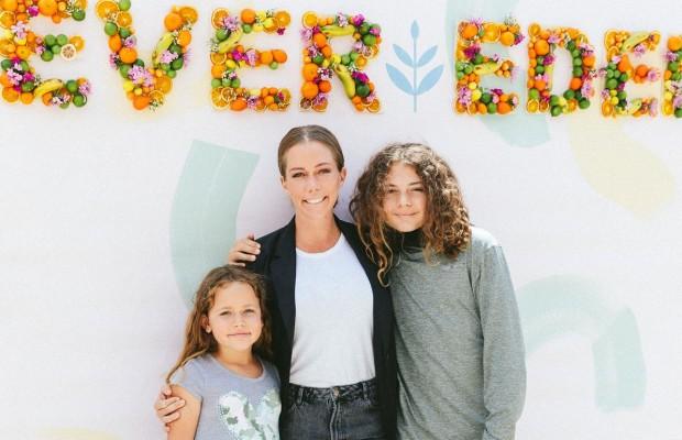 Kendra Wilkinson & kids at Evereden launch