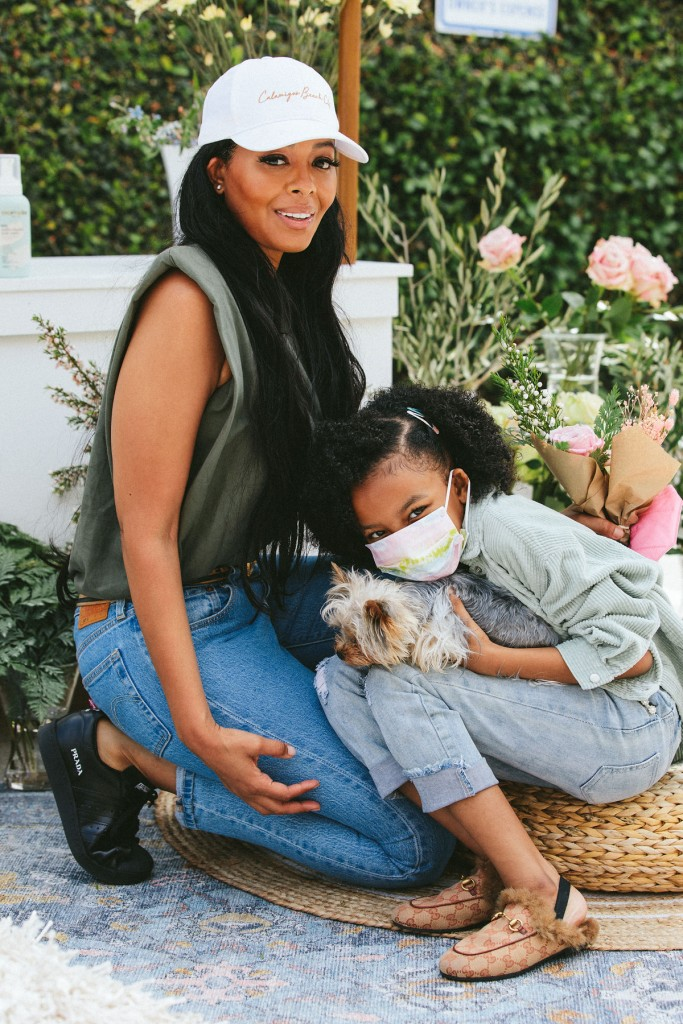 Vanessa Simmons & daughter at Evereden launch