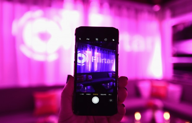 WEST HOLLYWOOD, CA - NOVEMBER 14:  A view of the atmosphere at Flirtar Launch Party, The World's First Augmented Reality Dating App at SkyBar at the Mondrian Los Angeles on November 14, 2017 in West Hollywood, California.  (Photo by Emma McIntyre/Getty Images for Flirtar)